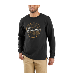 Carhartt T-Shirt Long-Sleeve Detroit Born Graphic Workwear 103844