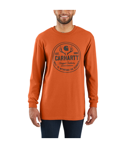 Carhartt T-Shirt Long-Sleeve Hunt Rugged Outdoors Graphic Workwear 103846