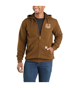 Carhartt Sweatshirt Hooded Full-Zip Chest Graphic Midweight 103868