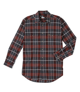 Wrangler Shirt Long Sleeve Flannel RIGGS Workwear 3W534BR