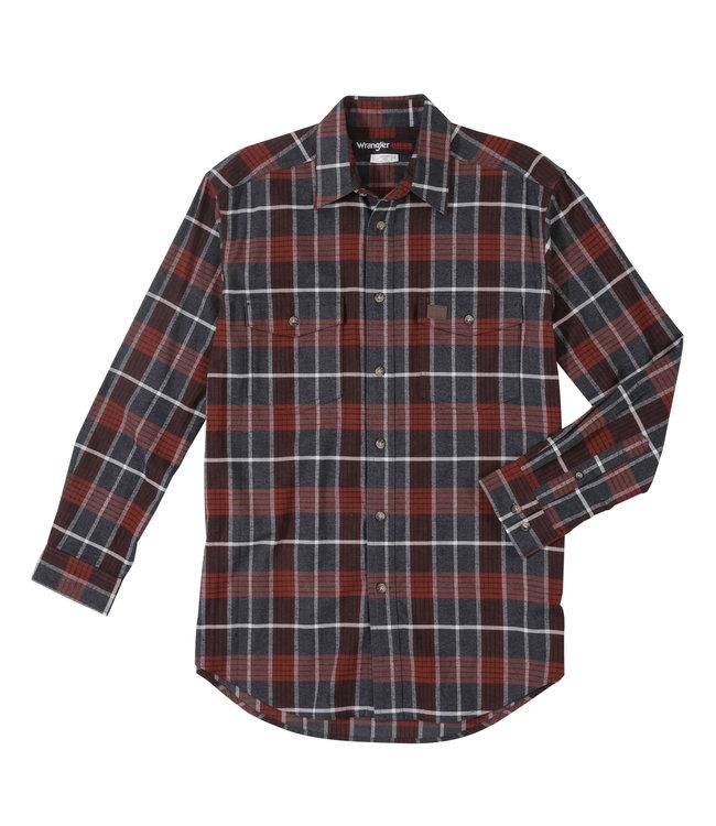 Wrangler Shirt Long Sleeve Flannel RIGGS Workwear 3W534BR