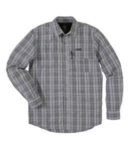 Wrangler Shirt Utility Plaid Long Sleeve Heathered Wrangler Outdoor NSP93QU
