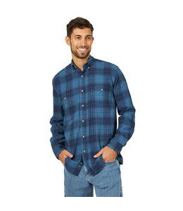 Wrangler Shirt Flannel Blue Ridge Wrangler Rugged Wear RWFL3BE
