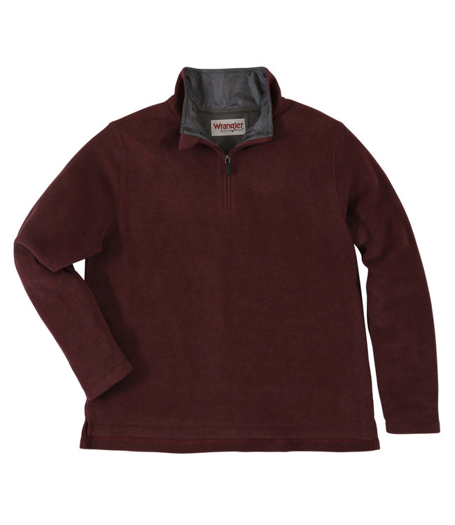 Wrangler Pullover Fleece Quarter Zip Wrangler Rugged Wear RWFV3ZH