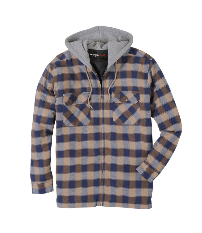 Wrangler Workshirt Flannel Hooded RIGGS Workwear 3W802NT