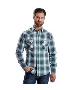 Wrangler Shirt Western Sawtooth Snap Pocket Long Sleeve Wrangler Retro MVR456M