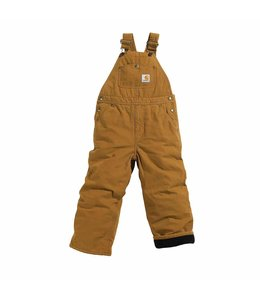 Carhartt Bib Overall Quilt-Lined Canvas Sizes 4-7 CM8625