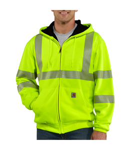 Carhartt Sweatshirt Thermal-Lined Class 3 Zip-Front High-Visibility 100504