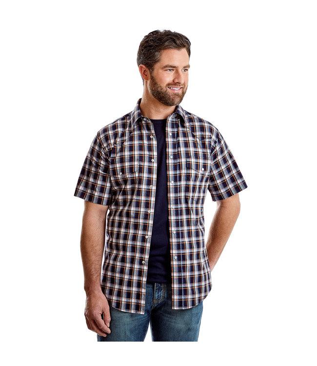 Wrangler Shirt Short Sleeve Western Wrinkle Resist MWR297M