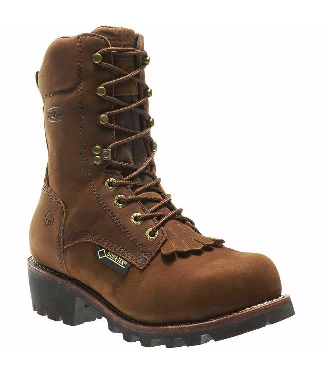 "Wolverine Logger 8"" Electrical Hazard Steel-Toe Gore-Tex Waterproof Insulated Chesapeake W05523"