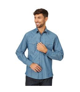 Wrangler Shirt Long Sleeve Western Snap Wrangler Easy Care MVG262B