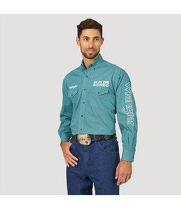 Wrangler Shirt Printed Western Snap Ram Rodeo Series Wrangler Logo MP2350M