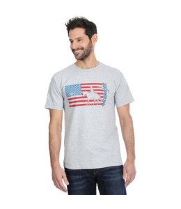 Wrangler Tee Graphic American Flag Cowboy MQ4112H