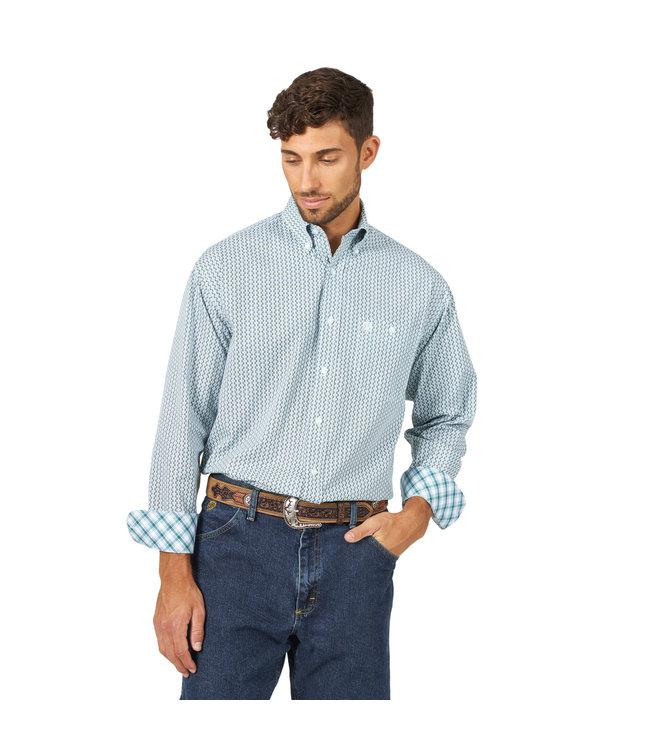 Wrangler Shirt Printed One Pocket Button Down Long Sleeve George Strait MGSG703