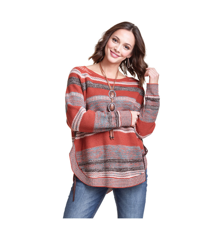 Wrangler Sweater Stripe Curved Hem Wrangler Retro LWK894M