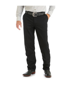 Wrangler Men's Casuals Flat Front Relaxed Fit Pants 00096BK