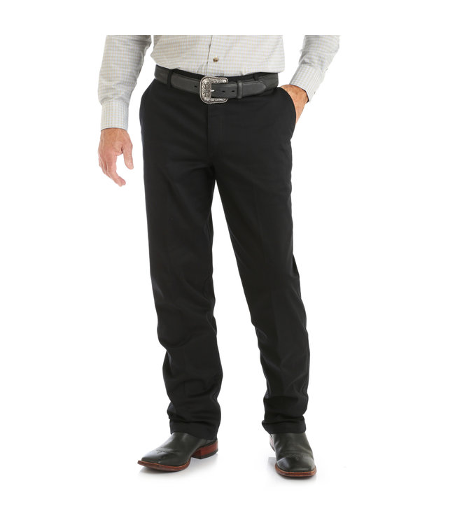 Wrangler Pants Relaxed Fit Flat Front Wrangler Casuals 00096BK