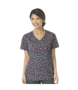 WonderWink Scrub Top Zoe+Chloe Mock Wrap Z14202A
