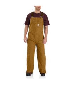 Carhartt Men's Quilt-Lined Washed Duck Bib Overalls 104031