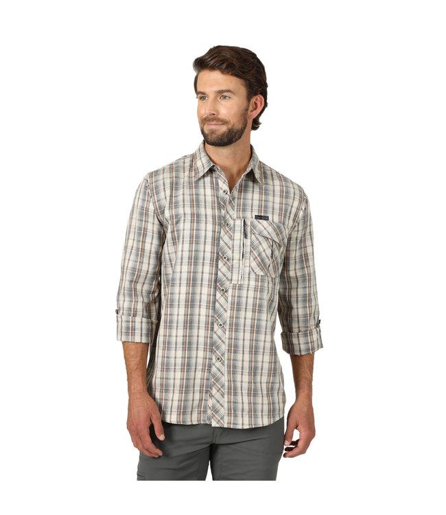 Wrangler Shirt Utility Heathered Plaid All Terrain Gear NSP93TE