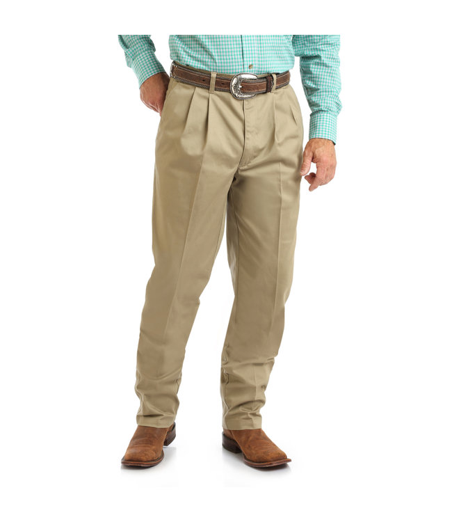 Wrangler Pants Relaxed Fit Pleated Front Casuals 00097KH