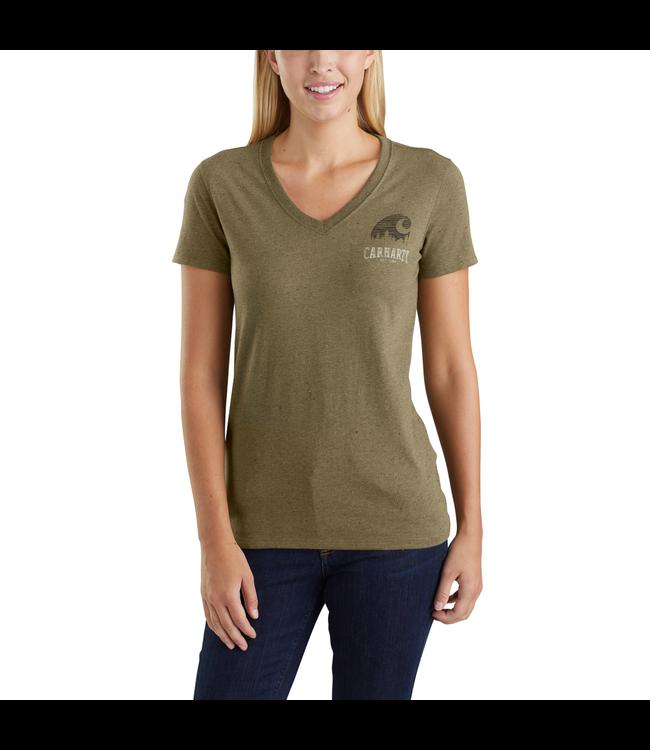 Carhartt T-Shirt V-Neck Short-Sleeve Outdoor Lockhart Graphic 103588