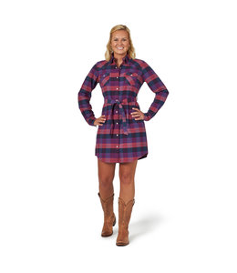Wrangler Dress Snap Plaid Flannel Long Sleeve LWD814M