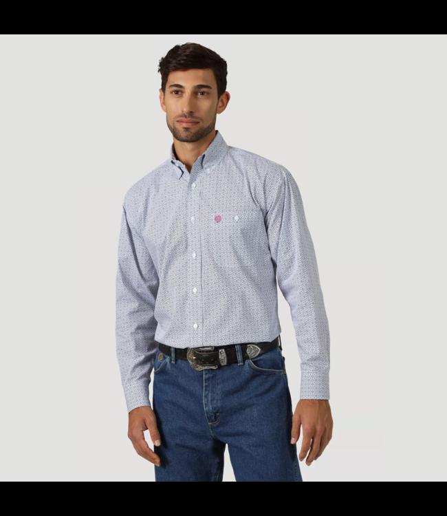 Wrangler Shirt Printed One Pocket Button Down Long Sleeve George Strait MGSB751