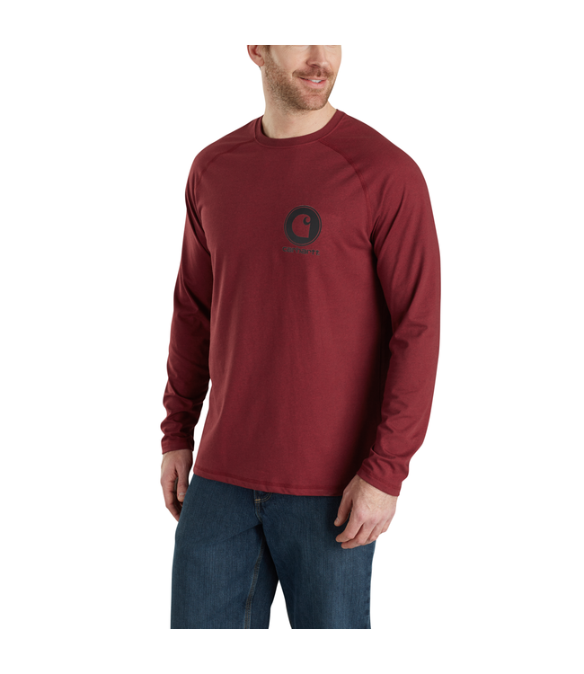 Carhartt T-Shirt Graphic Long-Sleeve Delmont Cotton Force 103306