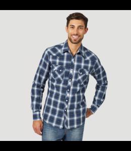 Wrangler Shirt Western Sawtooth Snap Pocket Long Sleeve Retro MVR487M