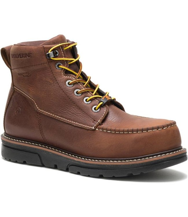 "Wolverine Work Boot 6"" I-90 Moc-Toe Durashocks W200050"