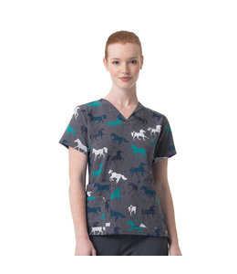 Carhartt Scrub Top Print V-Neck Media C12114X