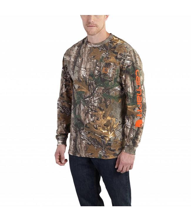 28fec21032182 Carhartt Long Sleeve T-Shirt Workwear Graphic Camo Sleeve 101776 ...
