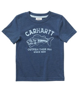 Carhartt Short Sleeve Heather Graphic Tee Boy's Toddler CA6069