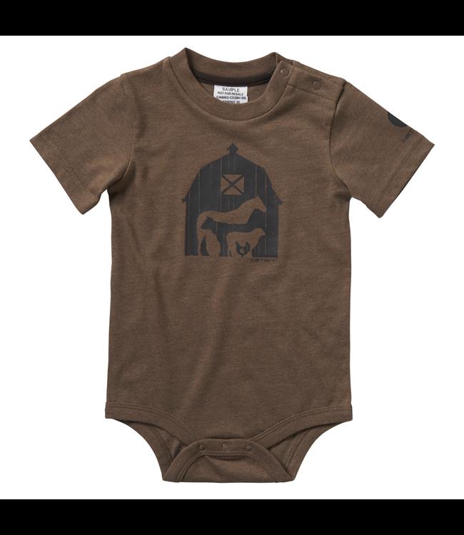 Carhartt Short Sleeve Heather Graphic Bodyshirt Boy's Infant CA6062