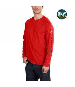 Carhartt Long-Sleeve T-Shirt Force® Cotton Delmont Sleeve Graphic 101302
