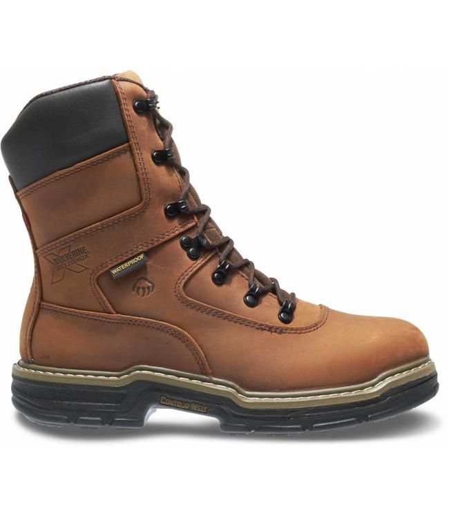 "Wolverine Work Boot Marauder Waterproof Lace Up 8"" W02164"