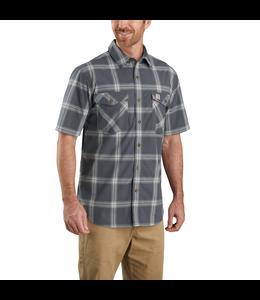 Carhartt Men's Rugged Flex Relaxed Fit Lightweight Short-Sleeve Button-Front Plaid Shirt 104173