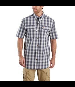 Carhartt Men's Force Relaxed Fit Lightweight Short-Sleeve Button-Front Plaid Shirt 104258