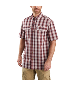 Carhartt Men's Force Relaxed Fit Lightweight Short-Sleeve Button-Front Plaid Shirt 104258