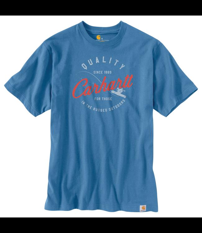 Carhartt Men's Relaxed-Fit Heavyweight Short-Sleeve Fishing Graphic T-Shirt 104182