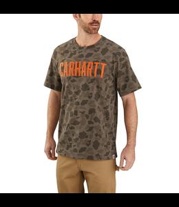 Carhartt Men's Relaxed-Fit Heavyweight Short-Sleeve Logo Camo T-Shirt 104346