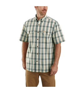 Carhartt Men's Original Fit Midweight Short-Sleeve Button-Front Plaid Shirt 104175