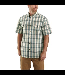 Carhartt Men's Original Fit Midweight Short-Sleeve Button-Front Plaid Shirt 104175