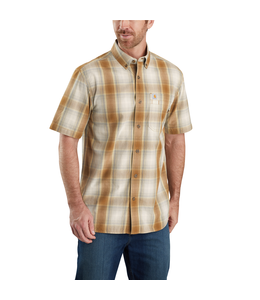 Carhartt Men's Relaxed Fit Lightweight Short-Sleeve Button-Front Plaid Shirt 104174