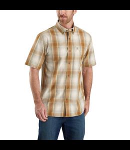 Carhartt Men's Relaxed Fit Lightweight Short-Sleeve Button-Front Plaid Shirt 104174