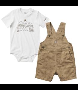 Carhartt Printed Canvas Shortall Set Boy's Infant CG8728