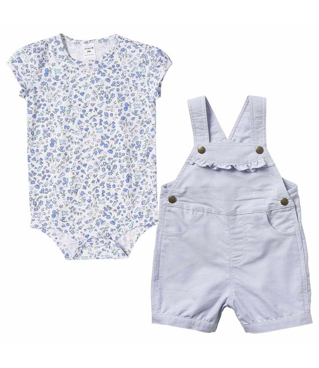 Carhartt Print Chambray Shortall Set Girl's Infant CG9731
