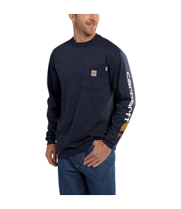 Carhartt Men's Flame-Resistant Force Cotton Graphic Long-Sleeve T-Shirt 101153