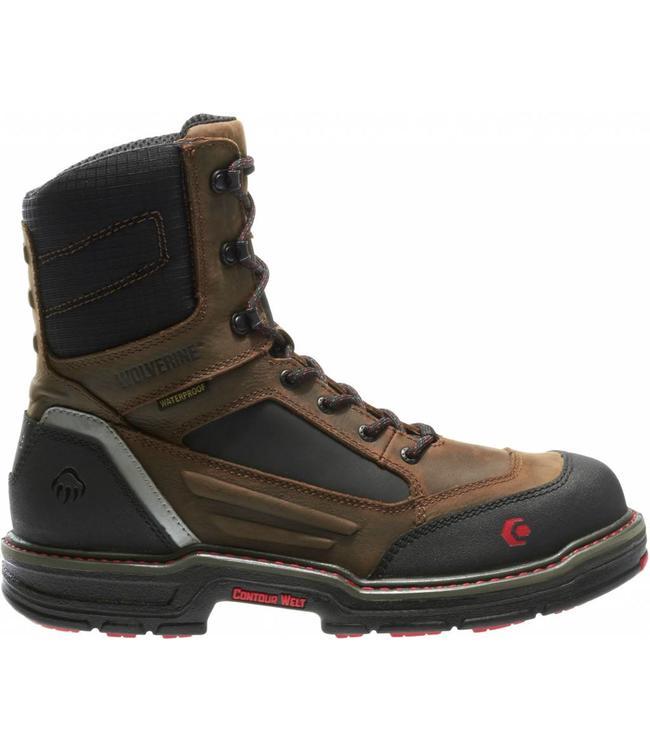 """Wolverine Work Boot Overman Waterproof Carbonmax 8"""" EH W10487"""
